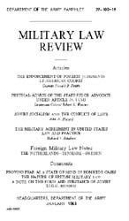 Military Law Review : January 1963 ; Vol... by Department of the Army, Headquarters