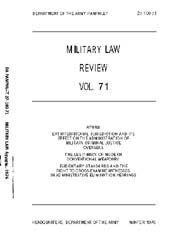 Military Law Review : January 1976 ; Vol... by Department of the Army, Headquarters