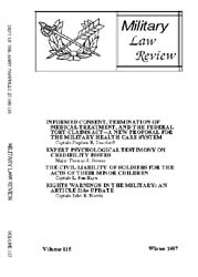 Military Law Review : January 1987 ; Vol... by Department of the Army, Headquarters