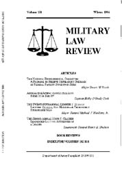 Military Law Review : January 1996 ; Vol... by Department of the Army, Headquarters