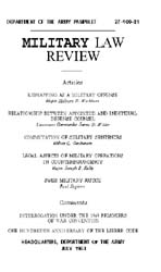 Military Law Review : July 1963 ; Volume... by Department of the Army, Headquarters