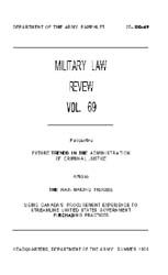 Military Law Review : July 1975 ; Volume... by Department of the Army, Headquarters
