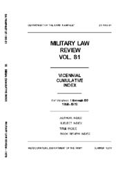 Military Law Review : July 1978 ; Volume... by Department of the Army, Headquarters