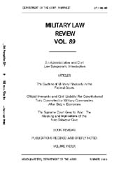Military Law Review : July 1980 ; Volume... by Department of the Army, Headquarters