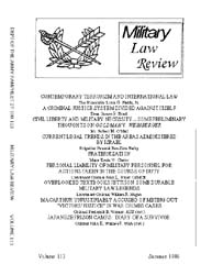 Military Law Review : July 1986 ; Volume... by Department of the Army, Headquarters