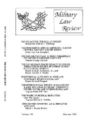 Military Law Review : July 1990 ; Volume... by Department of the Army, Headquarters