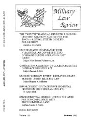 Military Law Review : July 1991 ; Volume... by Department of the Army, Headquarters