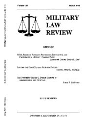 Military Law Review : March 2000 ; Volum... by Department of the Army, Headquarters