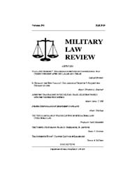 Military Law Review : Fall 2010 ; Volume... by Department of the Army, Headquarters