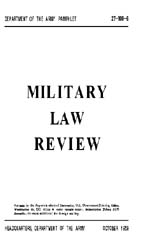 Military Law Review : October 1959 ; Vol... by Department of the Army, Headquarters