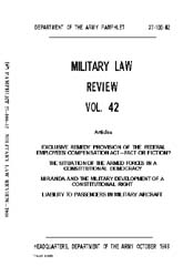 Military Law Review : October 1968 ; Vol... by Department of the Army, Headquarters