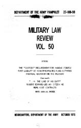 Military Law Review : October 1970 ; Vol... by Department of the Army, Headquarters