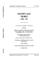 Military Law Review : October 1981 ; Vol... by Department of the Army, Headquarters
