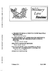 Military Law Review : October 1986 ; Vol... by Department of the Army, Headquarters