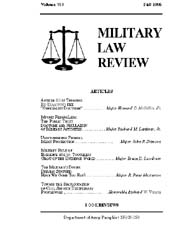 Military Law Review : October 1995 ; Vol... by Department of the Army, Headquarters