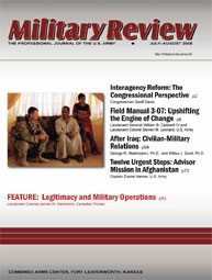 Miltary Review : July-August 2008 Volume July-August 2008 by Smith, John J.