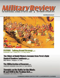 Miltary Review : September-October 2010 Volume September-October 2010 by Smith, John J.