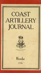 Coast Artillery Journal; November 1926 Volume 65, Issue 5 by Clark, F. S.