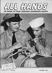 All Hands; October 1951 Volume 30, Issue 351 by Navy Department, Bureau of Navigation