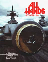 All Hands; October 1981 Volume 60, Issue 711 by Navy Department, Bureau of Navigation