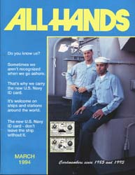 All Hands; March 1994 Volume 74, Issue 860 by Navy Department, Bureau of Navigation