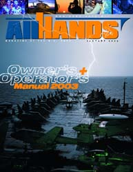 All Hands; January 2003 Volume 83, Issue 966 by Navy Department, Bureau of Navigation