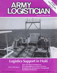 Army Logistician; January-February 1996 Volume 28, Issue 1 by Speights, Terry R.