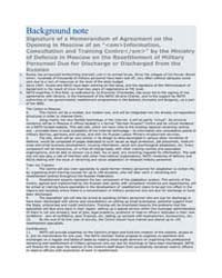 Background note Signature of a Memorandu... by North Atlantic Treaty Organization