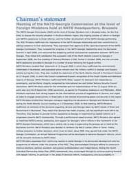 Chairmans statement Meeting of the NATO... by North Atlantic Treaty Organization