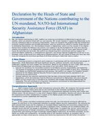 Declaration by the Heads of State and Go... by North Atlantic Treaty Organization