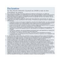 Declaration by the North Atlantic Counci... by North Atlantic Treaty Organization
