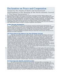 Declaration on Peace and Cooperation iss... by North Atlantic Treaty Organization