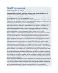 Final Communiqué Chairman: Mr. J. Luns. by North Atlantic Treaty Organization