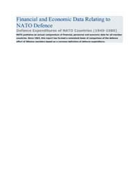 Financial and Economic Data Relating to ... by North Atlantic Treaty Organization