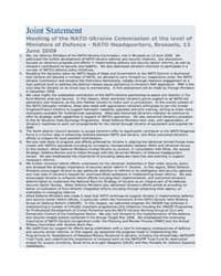 Joint Statement Meeting of the NATO-Ukra... by North Atlantic Treaty Organization