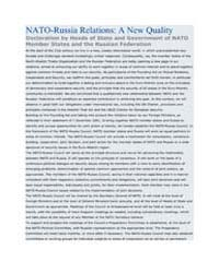 NATO-Russia Relations: A New Quality   D... by North Atlantic Treaty Organization