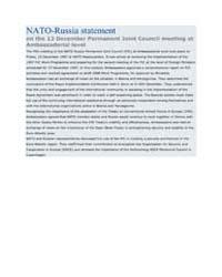 NATO-Russia statement on the 12 December... by North Atlantic Treaty Organization