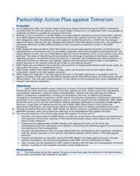 Partnership Action Plan against Terroris... by North Atlantic Treaty Organization