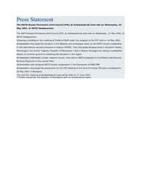 Press Statement by North Atlantic Treaty Organization