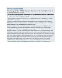 Press statement Meeting of the NATO-Russ... by North Atlantic Treaty Organization