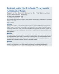 Protocol to the North Atlantic Treaty on... by North Atlantic Treaty Organization