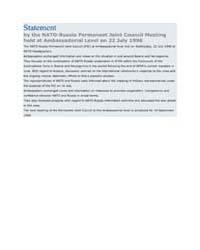 Statement by the NATO-Russia Permanent J... by North Atlantic Treaty Organization