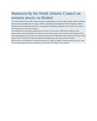 Statement by the North Atlantic Council ... by North Atlantic Treaty Organization