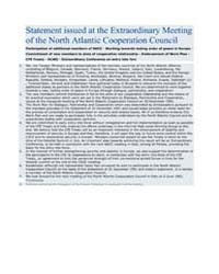 Statement issued at the Extraordinary Me... by North Atlantic Treaty Organization