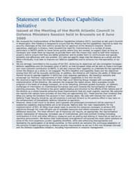 Statement on the Defence Capabilities In... by North Atlantic Treaty Organization