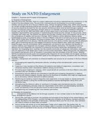 Study on NATO Enlargement Chapter 1 : Pu... by North Atlantic Treaty Organization