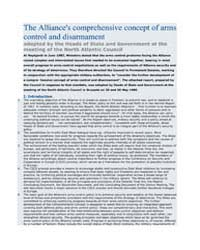 The Alliance's comprehensive concept of ... by North Atlantic Treaty Organization