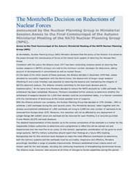 The Montebello Decision on Reductions of... by North Atlantic Treaty Organization