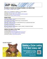 Physics of Fluids : Evolution of neutral... Volume Issue : September 2008 by M. A. Fontelos, U. Kindelán, and O. Vantzos