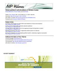 Physics of Plasmas : Global particle-in-... Volume Issue : November 2008 by Alexey Mishchenko, Roman Hatzky, and Axel Könies